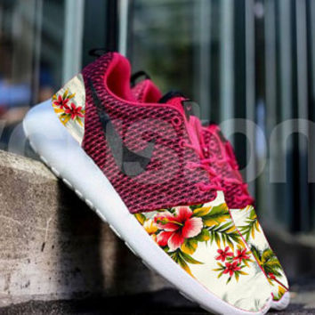 Nike Roshe Hyper Punch Island Floral Palm Tree V5 Custom