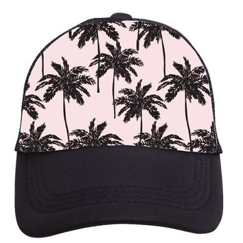 Pink Palms Trucker Hat (Youth) by Tiny Trucker Co.