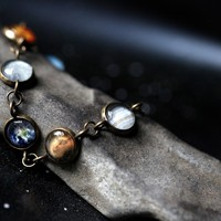 The Official I Love Science Store | Planet Bracelet With 8 Planet Images