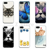 4 4s animal painting case cute cool cat with glasses Thin soft tpu back protective mobile phone cover skin for iphone 4 4s