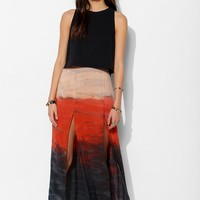 My Sister's Secret Ombre Double-Slit Maxi Skirt - Urban Outfitters
