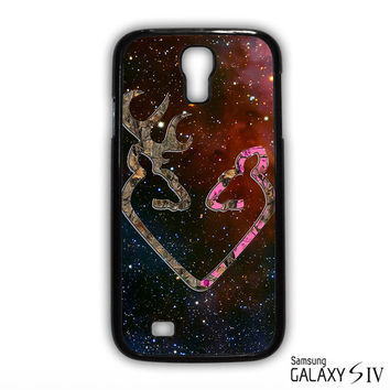 Browning Style Heart Buck Doe Deer Sticker Decal Duck Hunting for Samsung Galaxy S3/4/5/6/6 Edge/6 Edge Plus phonecases