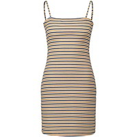 Partiss Women's Strappy Striped Backless Mini Dress