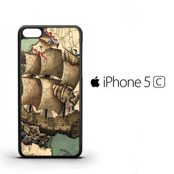 Vintage old ship Y0617 iPhone 5C Case
