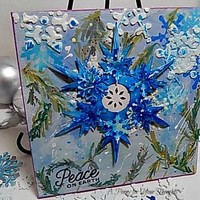 Peace On Earth Mixed Media Canvas Board. Ready to Ship