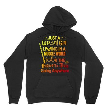 Just A Wizard Girl Living In A Muggle World Unisex Hoodie
