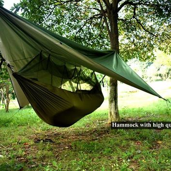 ARICXI Military tree camping shelter Hammock Tent With Anti Mosquito Net Mesh Portable For Outdoor sport