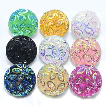 9piece/lot mixed 18mm snaps Alloy Resin Fashion Snaps Buttons Fit ginger snaps jewelry snaps Bracelets GS1110101-MIX