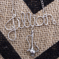 Hookah name necklace