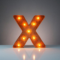 "Mini Vintage Marquee Lights - 12"" - Letter X"
