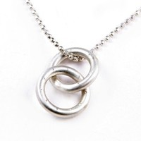 """Pablo Valencia- Sterling Silver """"Linked in Love & Friendship"""" Necklace-First Design"""