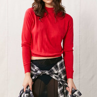 Vintage Cropped Turtle Neck Sweater - Urban Outfitters