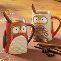 The Little Apple — Autumn Owl Mugs