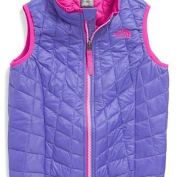 The North Face Toddler Girl's 'ThermoBall'?PrimaLoft?Water?Resistant Vest,