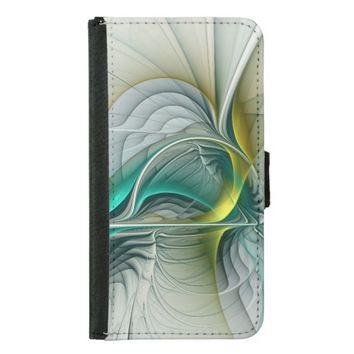 Fractal Evolution, abstract Art Wallet Phone Case For Samsung Galaxy S5
