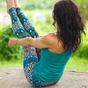 Psychedelic Yogi Metallic Yoga Leggings Sample Sale size Xsmall