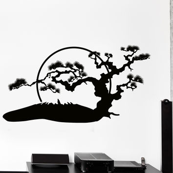 Wall Vinyl Decal Japan Japanese Oriental Sun Nature Home Interior Decor Unique Gift z4436