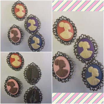 Vintage Cameo BROOCHES AND PINS/Free Shipping