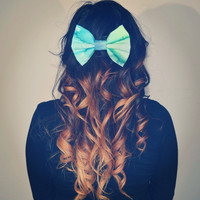 Watercolor Hair Bow - Dimeycakes