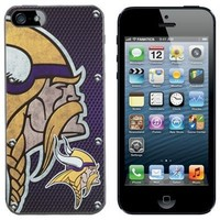 Minnesota Vikings iPhone 5 Hard Snap-On Case - Purple