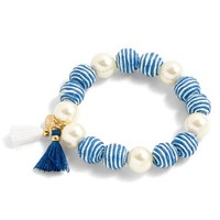 J.Crew Striped Bead Pearly Stretch Bracelet | Nordstrom