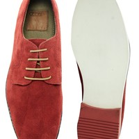 ASOS Derby Shoes With Multi Color Sole