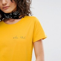 People Tree Organic Cotton T-Shirt With Bee Kind Slogan at asos.com