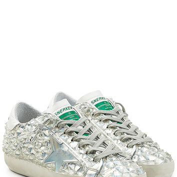 Golden Goose - Embellished Superstar Sneakers