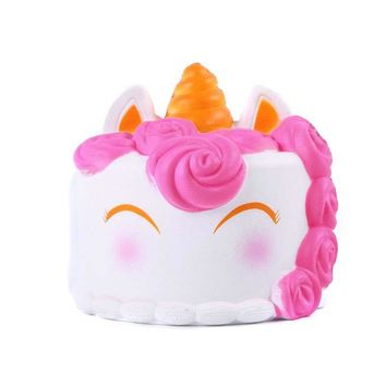 Fun Autism Toys Cake Squishy Decor Slow Rising Kid Toy Squeeze Relieve Anxiet Gift Toys for Children PU Simulation Ice Cream