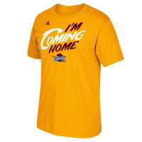 LeBron James Cleveland Cavaliers adidas I'm Coming Home T-Shirt - Gold