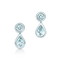 Tiffany & Co. -  Elsa Peretti® Diamonds by the Yard® earrings in platinum.