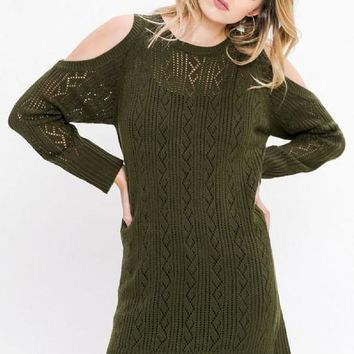 Knit Laced Back Pullover Sweater