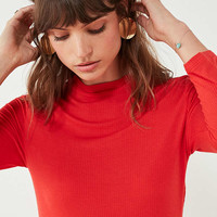 UO Nikita Long Sleeve Mock-Neck Tunic Top | Urban Outfitters