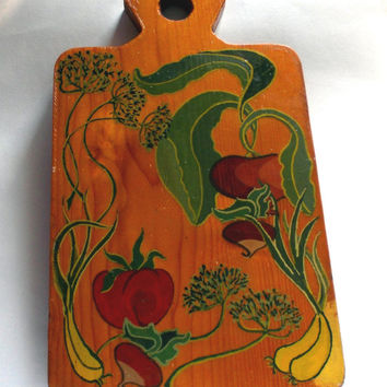 Painted Chopping board Original Gift Mother's Day Gift Unique gift  Handmade pattern Vegetables