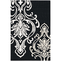 Modern Classics New Zealand Wool Area Rug in Black Olive and Winter White design by Candice Olson