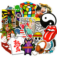 50 pcs Car Sticker Cartoon Mixed Skateboard Suitcase Luggage Vinyl Decal Brand Car Motorcycle Laptop Bicycle DIY Stickers