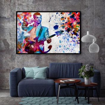 Watercolor Prince Singer Canvas Painting Art Print Poster Picture Bedroom Office Wall Decor Home Decor