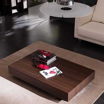 T111 Box Legno Convertible Coffee Table to Dining Table by Ozzio