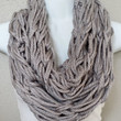 Soft Grey Knitted Infinity Scarf Womens Fashion Knitted Scarves Fall Knit Scarf Arm Knitted Scarf Chunky Fall Scarf