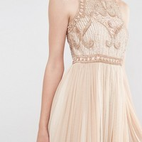 Frock and Frill Tulle Maxi Dress With Embellished Bodice at asos.com