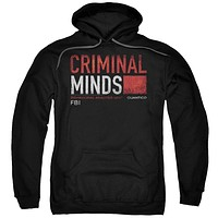 Criminal Minds - Title Card Adult Pull Over Hoodie