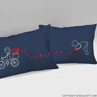 All My Love For You™ Couple Pillowcases (Dark Blue)