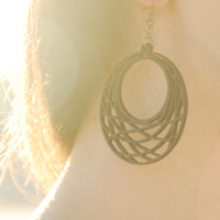 Black flamenco earrings. Black wooden earrings. Lovely women jewelry.