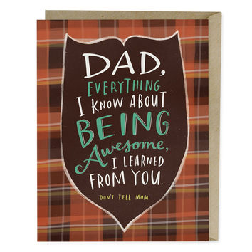 Don't Tell Mom Father's Day Card