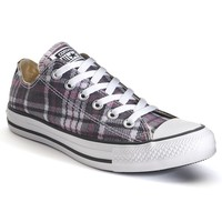 Converse All Star Plaid Sneakers for Unisex (White)