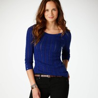 AE Cabled Sweater | American Eagle Outfitters