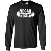 Vegan Muscle Weight Lifting Distressed T-Shirt