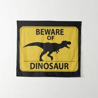 Beware of Dinosaur Tapestry