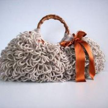 NzLbags Handmade Everyday Bag Knitted Handbag Shaggy by NzLbags