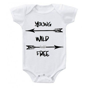 Young Wild and Free Bodysuit/ Onesuit/ T-Shirt/ Boy/ Girl/ Children/ Vinyl Shirt